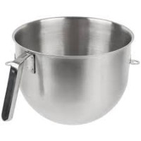 KitchenAid KSMC7QBOWL Commerical 7 Quart NSF Certified Polished Stainless Steel Bowl with J Hook Handle