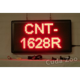 Affordable LED CNT-1628R Red Programmable Scrolling Sign, 16 x 28