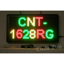 Affordable LED CNT-1628RG Tri Color Programmable LED Sign, 16 x 28