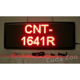 Affordable LED CNT-1641R Red Programmable Scrolling Sign, 16 x 41