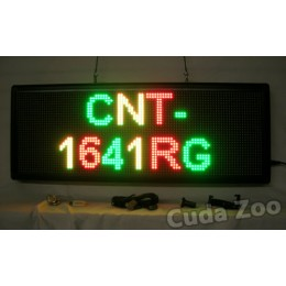 Affordable LED CNT-1641RG Tri Color Programmable LED Sign, 16 x 41
