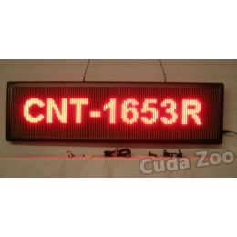Affordable LED CNT-1653R Red Programmable Scrolling Sign, 16 x 53