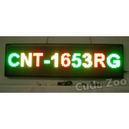 Affordable LED CNT-1653RG Tri Color Programmable LED Sign, 16 x 53