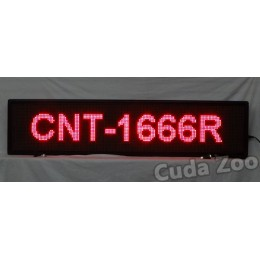 Affordable LED CNT-1666R Red Programmable Scrolling Sign, 16 x 66