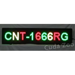 Affordable LED CNT-1666RG Tri Color Programmable LED Sign, 16 x 66