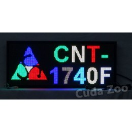 Affordable LED CNT-1740F Multi Color Programmable LED Sign, 17 x 40