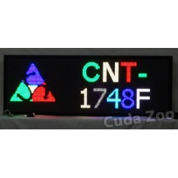 Affordable LED CNT-1748F Multi Color Programmable LED Sign, 17 x 48