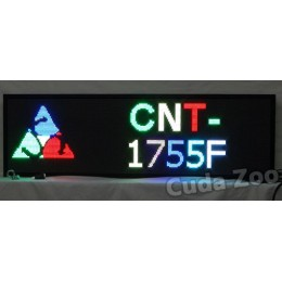 Affordable LED CNT-1755F Multi Color Programmable LED Sign, 17 x 55