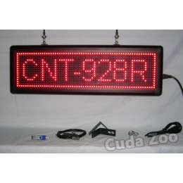 Affordable LED CNT-928R Red Programmable Scrolling Sign, 9 x 28