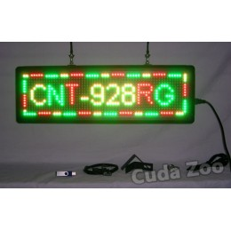Affordable LED CNT-928RG Tri Color Programmable LED Sign, 9 x 28