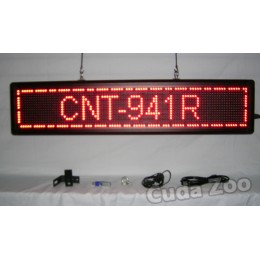 Affordable LED CNT-941R Red Programmable Scrolling Sign, 9 x 41