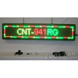 Affordable LED CNT-941RG Tri Color Programmable LED Sign, 9 x 41