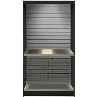 All State ASMMS362-KS Micro Market Kiosk with Stainless Slats 36