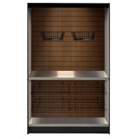 All State ASMMS361-DW Micro Market Display with Walnut Slats 36