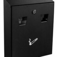 Alpine 490-01-BLK Cigarette Disposal Station Wall Mount Black