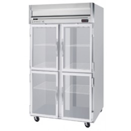 Beverage Air HR2-1HG Horizon Series Half-Glass Door Refrigerator, 49 cu. ft.