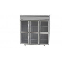 Beverage Air HR3-1HG Horizon Series Half-Glass Door Refrigerator, 74 cu. ft.