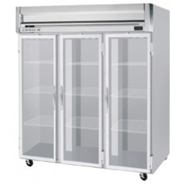 Beverage Air HRPS3-1G Horizon Series Glass Door Refrigerator, 74 cu. ft.