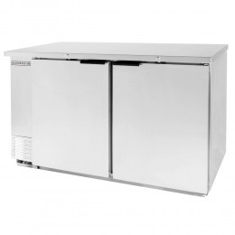 Beverage Air BB58HC-1-S Stainless Steel Back Bar Refrigerator with 2 Solid Doors 59