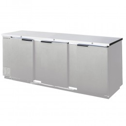 Beverage Air BB94HC-1-S Stainless Steel Back Bar Refrigerator with 3 Solid Doors 95