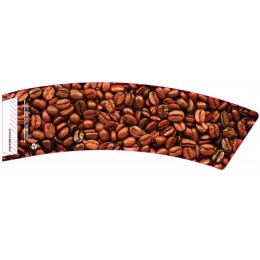 BriteVision Coffee Beans 12-20 Oz. Insulating Hot Cup Coffee Sleeve