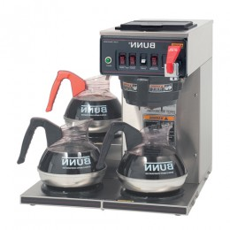 Bunn CWTF15 Automatic 12 Cup Coffee Brewer with 3 Left Lower Warmers