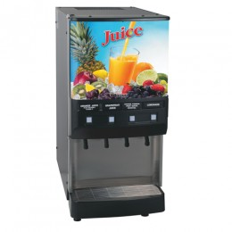 Bunn JDF4S 4 Flavor Cold Beverage Juice Dispenser Cold Water Tap 120V