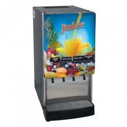 Bunn JDF-4S LD 4 Flavor Cold Beverage Juice Dispenser w/ Lit Door 120V