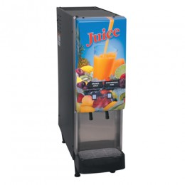Bunn JDF-2S 2 Flavor Cold Beverage Juice Dispenser with Lit Door, 120V