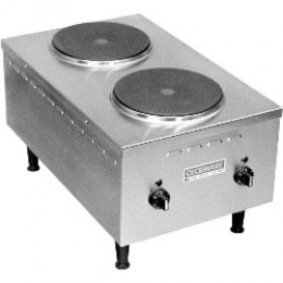 Cecilware EL24SH Short Order Electric Stove Double Hot Plate