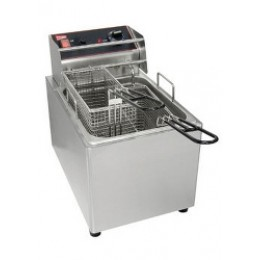 Cecilware EL25 Stainless Steel Electric Countertop 25 lb Fryer 120V
