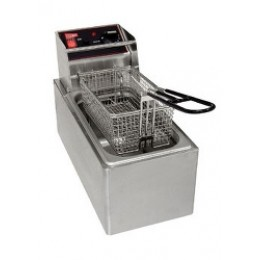 Cecilware EL6 Stainless Steel Electric Countertop 6 lb Fryer 120V