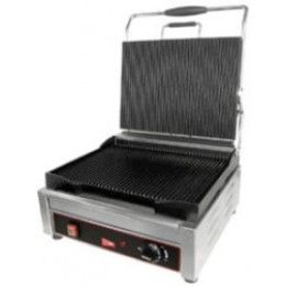 Cecilware SG1LG240 Panini Sandwich Grill Single Plus Grooved 240V
