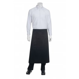 Chef Works 122ABLK0 Black 2-Pocket Bistro Apron