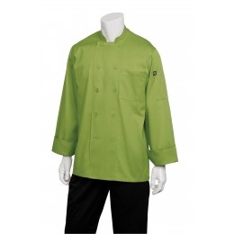 Chef Works 2833LIML Genova Lime Chef's Coat L