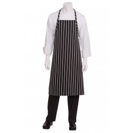 Chef Works A100BCS0  Black Chalk Stripe English Chef's Apron