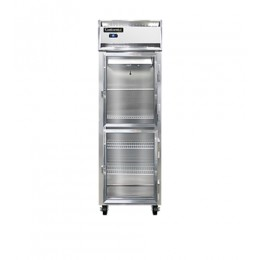 Continental 1F-LT-SS-GD-HD Stainless Steel Glass Half Door Low Temperature Reach In Freezer 26