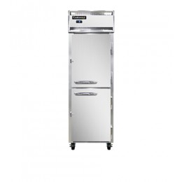Continental DL1F-SS-PT-HD Stainless Steel Designer Line Half Door Pass Through Freezer 26