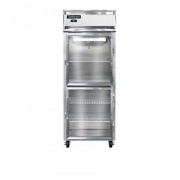 Continental D1RENGDHD Designer Line Extra Wide Glass Half Door Reach In Refrigerator 28.5