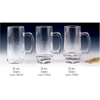 Encore 77612 Stein 12oz Clear 12/CS