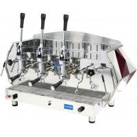 La Pavoni DIA 3L-R 3-Group Diamante Lever Espresso Coffee Machine, Ruby Red, 14L Boiler