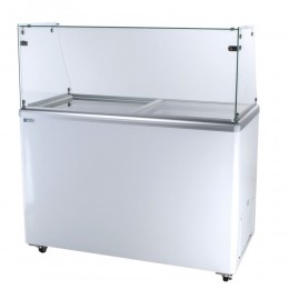 Excellence EDC-8HC Ice Cream Freezer Dipping Cabinet 8 Tub Capacity