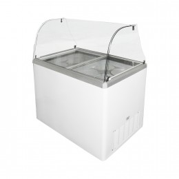 Excellence EDC-8CHC Ice Cream Freezer Dipping Cabinet 8 Tub Capacity Curved Glass