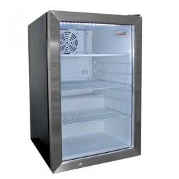 Excellence EMM-3S Countertop Merchandising Cooler Black Door 2.5 cu ft