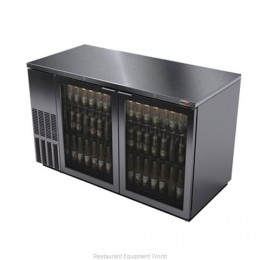 Fagor FBB-59GS Glass Door S/S Back Bar Cooler - 852 Cans 59