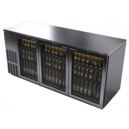 Fagor FBB-79GS Glass Door S/S Back Bar Cooler - 1092 Cans 79