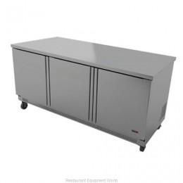 Fagor FWR-72 3 Door Worktop Refrigerator - 72 Inch