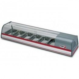 Fagor VTP-139 Glass Tapas Case - 6 Pans