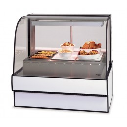 Federal CG5048HD Curved Glass Hot Deli Case 50