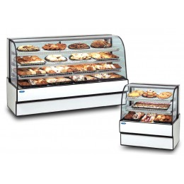 Federal CGD3648 Curved Glass Non-Refrigerated Bakery Case Three Tier 36